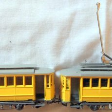 Comboios Escala: RIVAROSSI 6410+6420–TRANVIA MILAN / TRANMAY MILANO-HO CORRIENTE CONTINUA– CAJA ORIGINAL. Lote 226848750