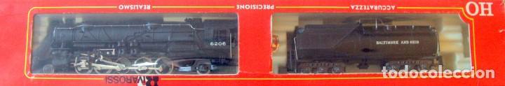 RIVAROSSI 1255–LOCOMOTORA VAPOR USA BALTIMORE&OHIO- HO CORRIENTE CONTINUA– CAJA ORIGINAL (Juguetes - Trenes a Escala H0 - Rivarossi H0)