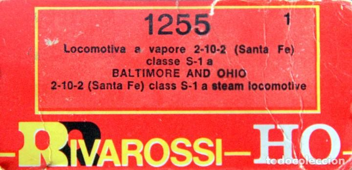 Trenes Escala: RIVAROSSI 1255–LOCOMOTORA VAPOR USA BALTIMORE&OHIO- HO corriente continua– CAJA ORIGINAL - Foto 4 - 226850820