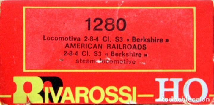 Trenes Escala: RIVAROSSI 1280–LOCOMOTORA VAPOR USA BERKSHIRE – HO corriente continua– CAJA ORIGINAL - Foto 4 - 226854090