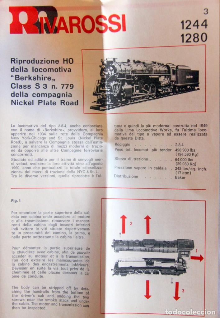 Trenes Escala: RIVAROSSI 1280–LOCOMOTORA VAPOR USA BERKSHIRE – HO corriente continua– CAJA ORIGINAL - Foto 5 - 226854090