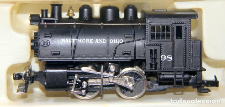 RIVAROSSI 1221–LOCOMOTORA VAPOR USA BALTIMORE&OHIO -HO CORRIENTE CONTINUA– CAJA ORIGINAL (Juguetes - Trenes a Escala H0 - Rivarossi H0)