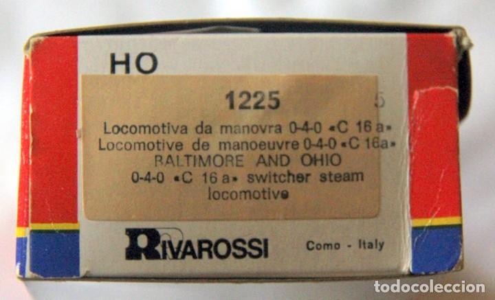 Trenes Escala: RIVAROSSI 1225–LOCOMOTORA VAPOR USA BALTIMORE&OHIO- HO CORRIENTE CONTINUA– CAJA ORIGINAL - Foto 2 - 235001940