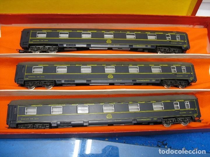 TRES VAGONES VAGON LIT DE RIVAROSSI (Juguetes - Trenes a Escala H0 - Rivarossi H0)