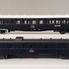 Trenes Escala: RIVAROSSI (ALTAYA) H0 COCHE-CAMAS Y COCHE FURGÓN DE LA CÍA INTERNACIONAL WAGONS-LITS CIWL.. Lote 254378665