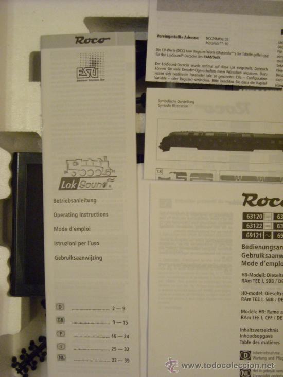 Trenes Escala: Roco H0 Startset Digital 63123 TEE Sonido loksound Multimaus Nuevo - Foto 7 - 31343155