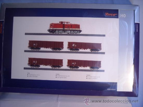 Trenes Escala: Roco escala H0 1/87 ref 61419 set locomotora diesel BR 114 con interface Digital y 4 vagon Nuevo - Foto 1 - 37765380
