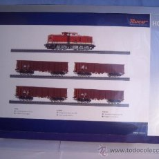 Trenes Escala: ROCO ESCALA H0 1/87 REF 61419 SET LOCOMOTORA DIESEL BR 114 CON INTERFACE DIGITAL Y 4 VAGON NUEVO. Lote 37765380