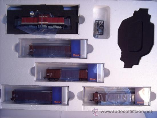 Trenes Escala: Roco escala H0 1/87 ref 61419 set locomotora diesel BR 114 con interface Digital y 4 vagon Nuevo - Foto 4 - 37765380