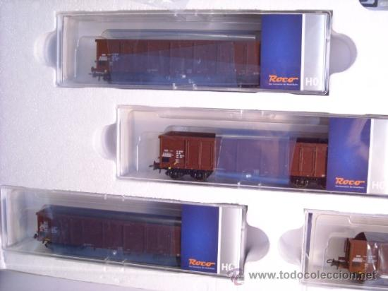 Trenes Escala: Roco escala H0 1/87 ref 61419 set locomotora diesel BR 114 con interface Digital y 4 vagon Nuevo - Foto 5 - 37765380