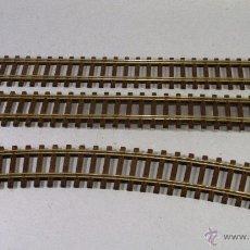 Trenes Escala: ROCO #42410/42422. ESCALA H0. LOTE DE 2 VÍAS RECTAS Y UNA CURVA (PERFIL BAJO). Lote 54020668