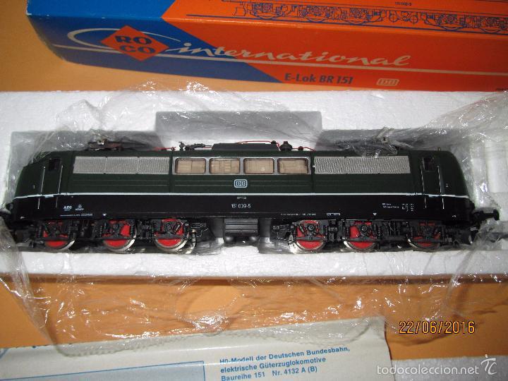 Trenes Escala: Descatalogada Locomotora Eléctrica BR 151 en Escala *H0* Corriente Continua de ROCO - Foto 6 - 57733867