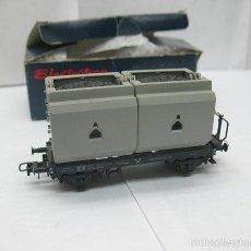 Trenes Escala: ROCO - VAGÓN DE MERCANCÍAS ABIERTO CON CARGA CARBÓN - ESCALA H0. Lote 59121765