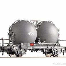 Trenes Escala: ROCO 66458 VAGÓN CON SILOS ESFÉRICOS DE LA NS. Lote 71925383