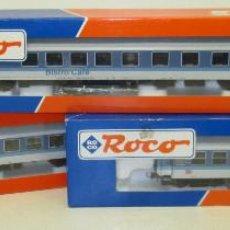 Trenes Escala: CONJUNTO TREN H0 ROCO INTERREGIO MÁQUINA Y VAGONES REF.44935-45051-45052, NUEVOS Y CON CAJAS.. Lote 80884575