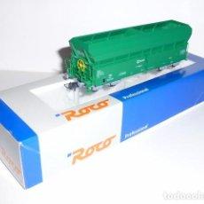 Trenes Escala: 0076-ROCO TOLVA SIN CARGA RENFE EP.V VERDE H0 - 1/87. Lote 97254067