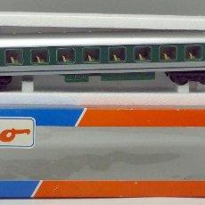 Trenes Escala: VAGÓN PASAJEROS VERDE MEHANO EN CAJA ROCO H0. Lote 97704531