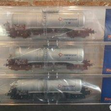 Trenes Escala: SET DE 3 VAGONES ROCO 66121 RENFE TRANSFESA. Lote 98617879