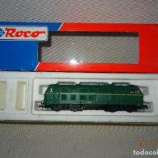 Trenes Escala: LOCOMOTORA ROCO ESCALA H0 1/87 REF 63490 LOCOMOTORA DIESEL BR 215 129-8 DE RENFE. Lote 103636131
