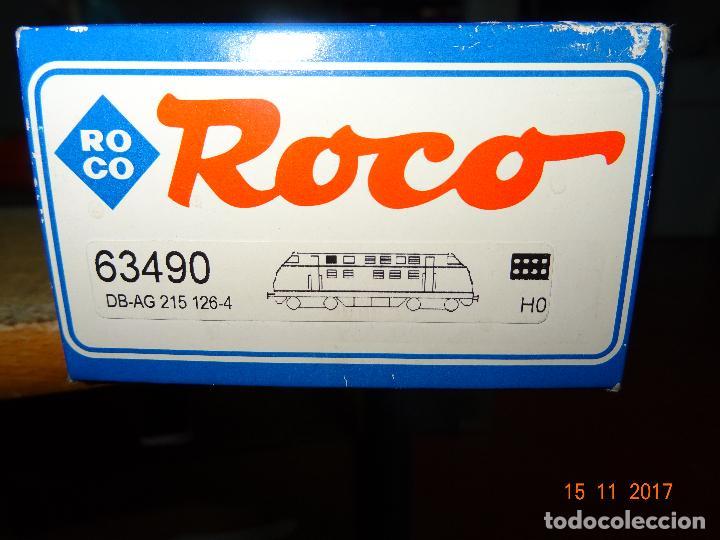 Trenes Escala: Locomotora Roco Escala H0 1/87 ref 63490 Locomotora Diesel BR 215 129-8 Amarilla de RENFE - Foto 4 - 103698559