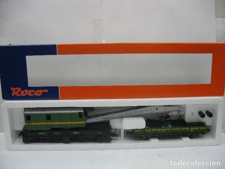 ROCO REF: 56095 - GRÚA GM802 RENFE VAGÓN - ESCALA H0 (Juguetes - Trenes a Escala H0 - Roco H0)