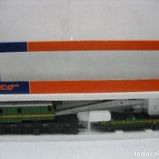 Trenes Escala: ROCO REF: 56095 - GRÚA GM802 RENFE VAGÓN - ESCALA H0. Lote 103928567