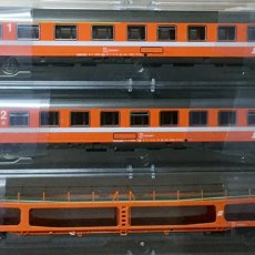 Trenes Escala: PACK 3 VAGONES ROCO HO, REF 64097, OBB, A ESTRENAR. Lote 104462006