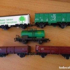 Trenes Escala: ROCO CINCO VAGONES MERCANCIAS NUEVOS SIN USO . Lote 104545235
