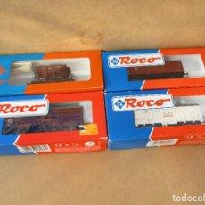 Trenes Escala: ROCO TRES CERRADOS Y UNA VAGONETA . Lote 104545607