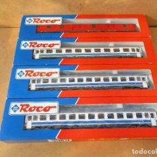 Trenes Escala: ROCO COMPOSICION FURGON DOS VAGONES PRIMERA Y UNO SEGUNDA . Lote 104545815