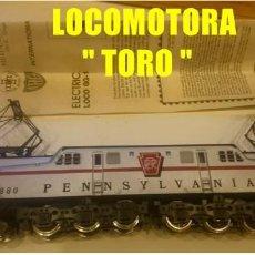Trenes Escala: MEHANO-LOCOMOTORA-TORO-GG1-PENNSYVANIA-PANTOGRAFOS CC CONTINUA ANALOGICA DE COLECCION USA. Lote 108790015