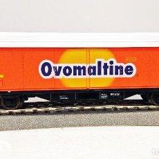 Trenes Escala: ROCO 46399 VAGÓN DE CARGA OVOMALTINE SBB. Lote 113216451