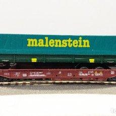 Trenes Escala: ROCO 46366 VAGON PORTA-TRAILERS MALENSTEIN. Lote 113216531