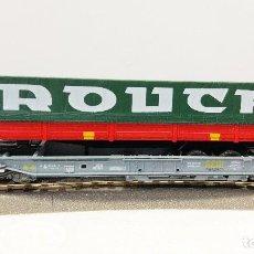 Trenes Escala: ROCO 46357 VAGON PORTA-TRAILERS ROUCH DE LA SNCF. Lote 113216543