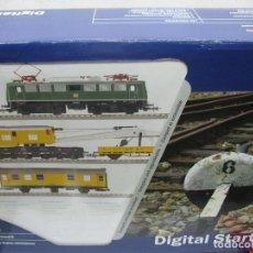 Trenes Escala: ROCO REF: 51231 - SET DE INICIACIÓN DIGITAL LOCOMOTORA, VAGONES, VÍAS... - ESCALA H0. Lote 120716687