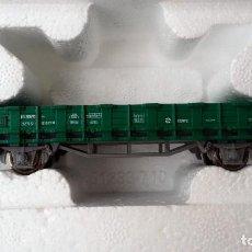 Trenes Escala: VAGÓN DE MERCANCÍAS RENFE BORDE BAJO DE ROCO ESCALA H0. Lote 121699715
