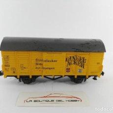 Trenes Escala: VAGON DE MERCANCIAS CERVECERO DINKEL ACKER DB ROCO 4305 ESCALA H0. Lote 125073367