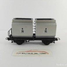 Trenes Escala: VAGON PLATAFORMA CON DOS CAJAS PREUSSAG DR ROCO 4322 ESCALA H0. Lote 125078331