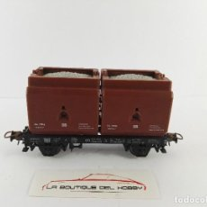 Trenes Escala: VAGON PLATAFORMA CON DOS CAJAS DB ROCO 4323 ESCALA H0. Lote 125078491