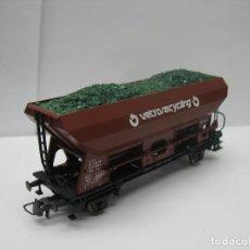 Trenes Escala: ROCO - VAGÓN TOLVA VETRO RECYCLING DE LA SBB CFF - ESCALA H0. Lote 131172288