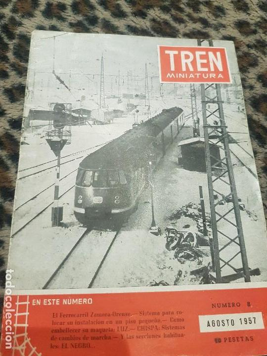 REVISTA TREN MINIATURA, AÑO 1957 (Juguetes - Trenes a Escala H0 - Roco H0)
