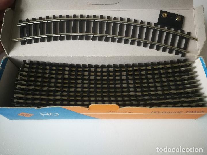 ANTIGUO LOTE DE VIAS ROCO HO GAUGE TRACK - 2 RAD 358 MM 30 GRADOS NUMERO 4422 (Juguetes - Trenes a Escala H0 - Roco H0)
