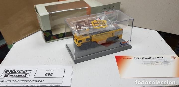 Trenes Escala: ROCO MINITANKS SPECIAL EDICION LIMITADA MUY RARO REF 685 MAN GTLF 8X8 BUSH PANTHER - Foto 2 - 141231330