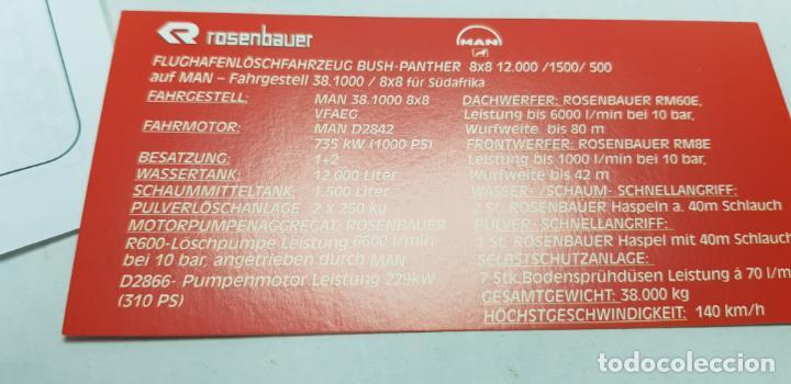 Trenes Escala: ROCO MINITANKS SPECIAL EDICION LIMITADA MUY RARO REF 685 MAN GTLF 8X8 BUSH PANTHER - Foto 12 - 141231330
