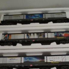 Trenes Escala: VAGONES OPEL PORTACONTENEDORES MILENIUM DE ROCO. Lote 142979570