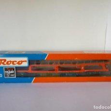 Trenes Escala: ROCO H0 1:87 VAGON PORTACOCHES DE DOS PISOS DDM REF. 67451 (USADO). Lote 147672010