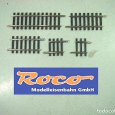 Trenes Escala: LOTE 38X TRAMO RECTA ROCO 42207 42204 42212 42209 -ESCALA HO -VIA RECTAS VIAS TRAMOS R358 TREN RECTO. Lote 154030054