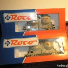 Trenes Escala: LOTE 2 VAGONES ROCO HO DE TRANSPORTE LIQUIDOS COMO NUEVOS. Lote 154714122