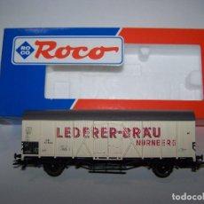 Trenes Escala: VAGÓN CERVECERO ROCO H0. EN CAJA.. Lote 156651538