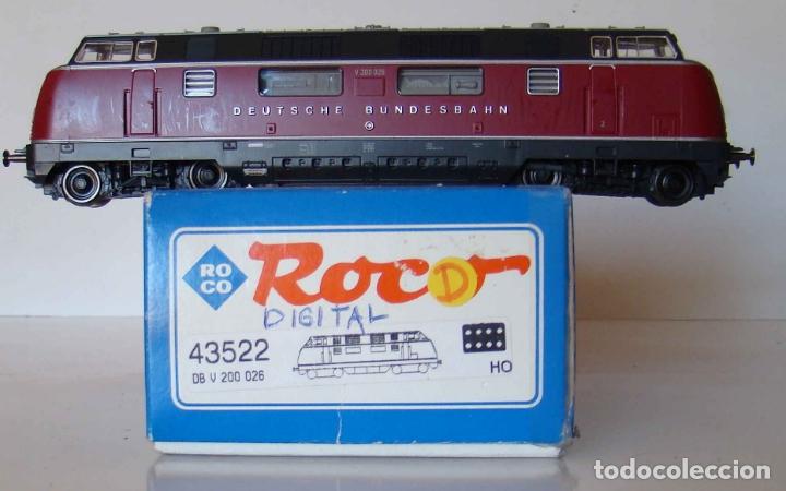 LOCOMOTORA DIESEL SERIE V200 DE LA DB ESCALA HO DIGITAL REF.: 43522 (Juguetes - Trenes a Escala H0 - Roco H0)